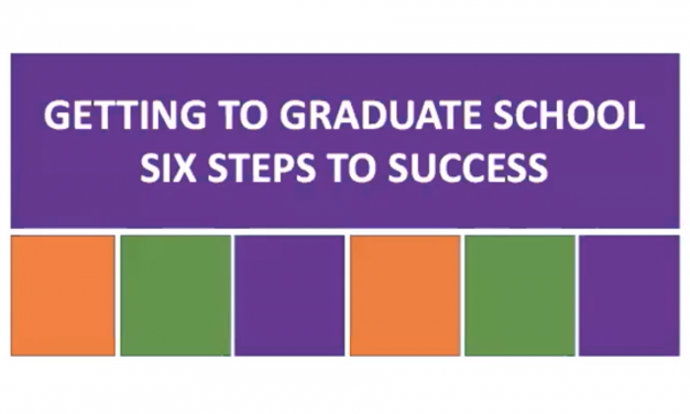 Webinar—Getting to Graduate School—Six Steps to Success